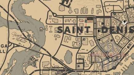 Портной в Сен-Дени подробная карта
