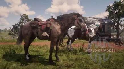 Два коня на охоте в RDR 2
