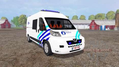 Peugeot Boxer Police vitre v1.1 для Farming Simulator 2015