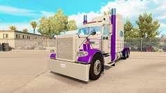 Скин Purple & Gray на тягач Peterbilt 389