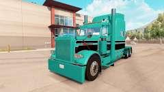 Скин Turquoise black на тягач Peterbilt 389