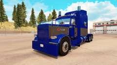Скин Blue and Gray на тягач Peterbilt 389 для American Truck Simulator