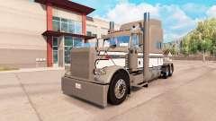 Скин Gray-White-Black на тягач Peterbilt 389 для American Truck Simulator