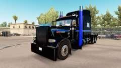 Скин Black Green Blue на тягач Peterbilt 389