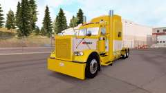 Скин Yellow and White на тягач Peterbilt 389