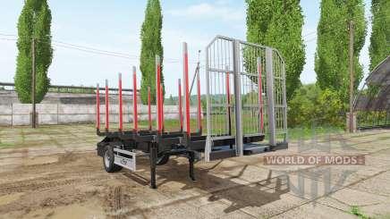 Timber trailer Fliegl для Farming Simulator 2017