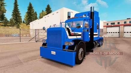 Скин Stripes lines на тягач Peterbilt 389 для American Truck Simulator