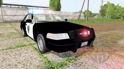Ford Crown Victoria highway patrol для Farming Simulator 2017