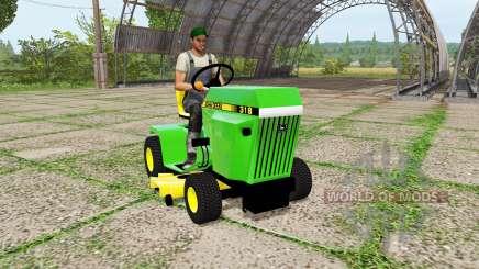 John Deere 318 mower для Farming Simulator 2017