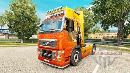 Скин Pirates of the Caribbean на тягач Volvo для Euro Truck Simulator 2