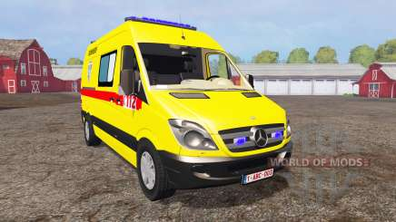 Mercedes-Benz Sprinter 311 CDI Ambulance для Farming Simulator 2015