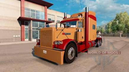 Скин Burgundy and Light Brown на Peterbilt 389 для American Truck Simulator