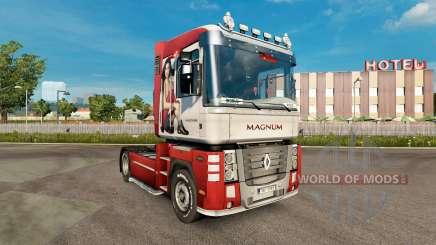 Скин Ирина Шейк на тягач Renault Magnum для Euro Truck Simulator 2