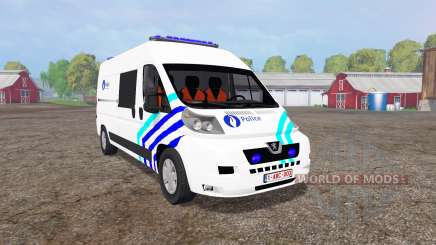 Peugeot Boxer Police vitre v1.1 для Farming Simulator 2015