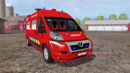 Peugeot Boxer sapeurs-pompiers для Farming Simulator 2015