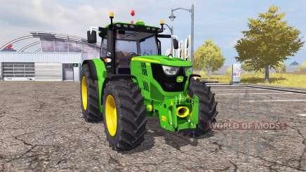 John Deere 6150R v2.0 для Farming Simulator 2013