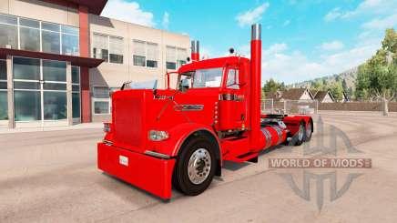 Скин Villager red на тягач Peterbilt 389 для American Truck Simulator