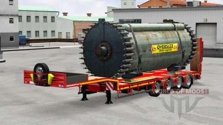 Kassbohrer with cargos для American Truck Simulator