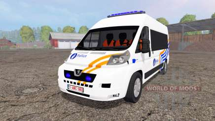 Peugeot Boxer Police vitre для Farming Simulator 2015