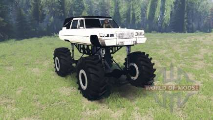 Cadillac Fleetwood hearse monster для Spin Tires