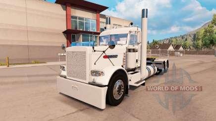Скин Villager white на тягач Peterbilt 389 для American Truck Simulator