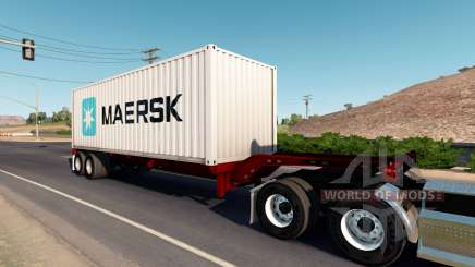 Cheetah container chassis для American Truck Simulator