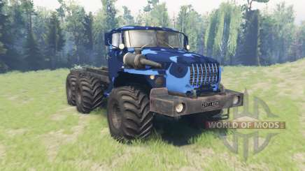 Окрас Зимний камуфляж для Урал 4320-10 для Spin Tires