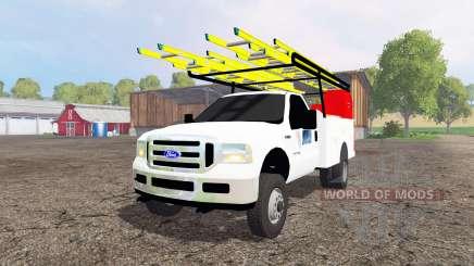 Ford F-250 2005 utility для Farming Simulator 2015