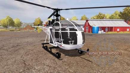 Aerospatiale SE.313B Alouette II v2.0 для Farming Simulator 2013