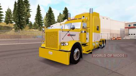Скин Yellow and White на тягач Peterbilt 389 для American Truck Simulator