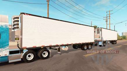 Double refrigerated trailer Great Dane для American Truck Simulator