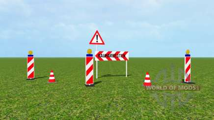 Traffic barrier v1.1 для Farming Simulator 2015