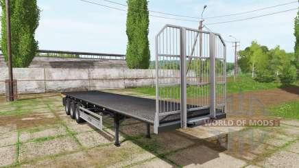 Fliegl flatbed trailer autoload v5.0 для Farming Simulator 2017