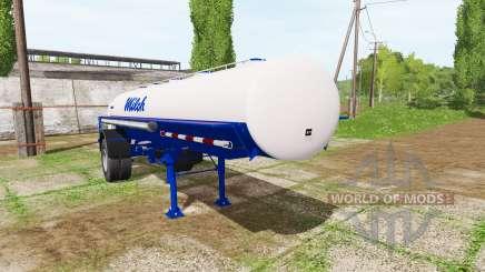 Milk tank semitrailer для Farming Simulator 2017