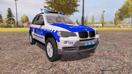 BMW X5 4.8i (E70) serbian police для Farming Simulator 2013