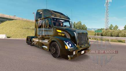 Скин Golden and Black на тягач Volvo VNL 670 для American Truck Simulator