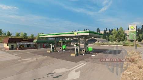 Real gas stations v1.2 для American Truck Simulator