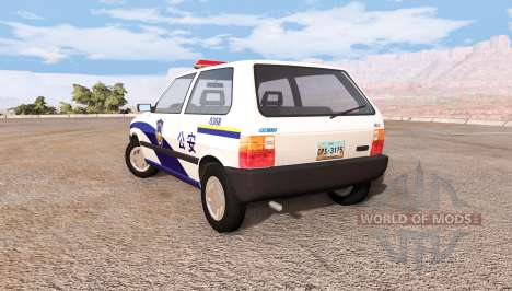 Fiat Uno chinese police для BeamNG Drive