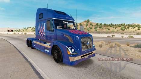 Скин Arizona Wildcats на тягач Volvo VNL 670 для American Truck Simulator