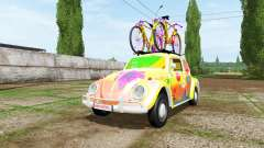 Volkswagen Beetle 1966 peace and love v2.0 для Farming Simulator 2017
