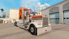 Скин Gray Orange на тягач Kenworth W900