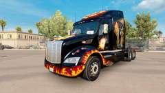 Скин Life us a gamble на тягач Peterbilt 579 для American Truck Simulator