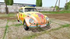 Volkswagen Beetle 1966 peace and love для Farming Simulator 2017