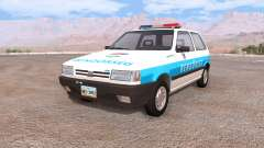 Fiat Uno hungarian police для BeamNG Drive