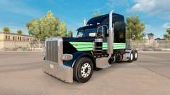 Скин Mint Green and Black на тягач Peterbilt 389