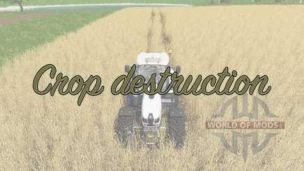 Crop destruction для Farming Simulator 2017