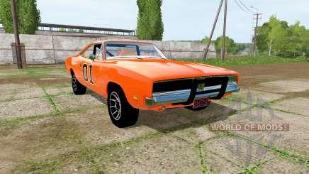 Dodge Charger RT (XS29) 1970 General Lee для Farming Simulator 2017