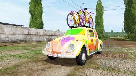 Volkswagen Beetle 1966 peace and love v2.0 для Farming Simulator 2017