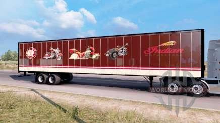 Indian Motorcycles box trailer для American Truck Simulator