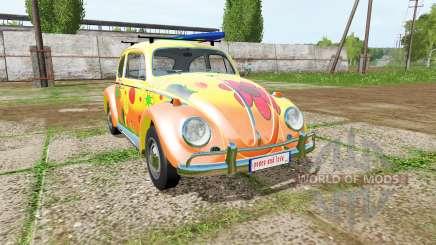 Volkswagen Beetle 1966 peace and love для Farming Simulator 2017